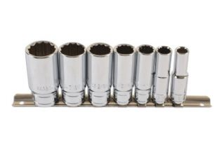 "Laser 6194 7 Piece 3/8"" Drive Whitworth Deep Socket Set"